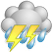 Tue - Scattered Thunderstorms