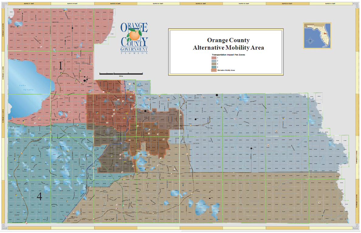 Orange County Alternative Mobility Area. Enlarged map opens in new window
